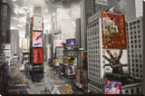 NEW YORK - Times square Aerial Stretched Canvas Print