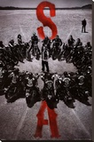 Sons of Anarchy - Bike Circle Stretched Canvas Print