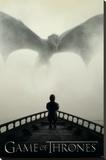 Game of Thrones - Lion & A Dragon Lærredstryk på blindramme