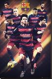 Barcelona - 15/16 Players Lærredstryk på blindramme