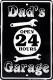 Dad's Garage Plakietka emaliowana