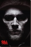 Sons of Anarchy - Jax Skull Stretched Canvas Print