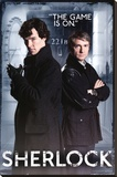 Sherlock - Door Stretched Canvas Print