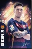 Barcelona- Messi 15/16 Impressão em tela esticada