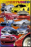Supertuned (Race Cars) Art Poster Print Stretched Canvas Print