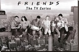 Friends Lunch on Skyscraper over New York TV Poster Print Stretched Canvas Print