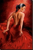 Magrini Red Dancer Stretched Canvas Print