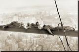 Hommes sur une poutre métallique, 1930 Toile tendue sur châssis
