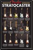 Fender- Stratocaster Evolution Stretched Canvas Print
