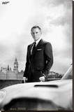 James Bond – Bond & DB5 - Skyfall Lærredstryk på blindramme