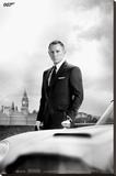 James Bond – Bond & DB5 - Skyfall - Şasili Gerilmiş Tuvale Reprodüksiyon