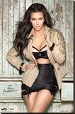 Kim Kardashian Jacket Stretched Canvas Print