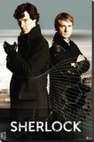Sherlock- Sherlock And Watson Stretched Canvas Print
