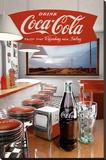 Coca-Cola - Diner Płótno naciągnięte na blejtram - reprodukcja