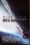 Star Trek (Into Darkness - Burning Enterprise Stretched Canvas Print