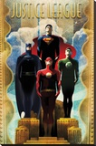 DC Comics Team - Art Deco Stretched Canvas Print