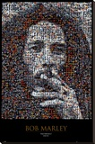 Bob Marley Mosaic Stretched Canvas Print