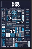 Doctor Who - Infographic Stretched Canvas Print