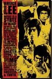Bruce Lee Montage - Şasili Gerilmiş Tuvale Reprodüksiyon