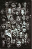 Rap Gods (Rapper Collage) Music Poster Print Sträckt Canvastryck