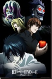 Deathnote - Characters Stretched Canvas Print