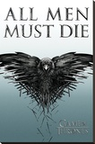 Game of Thrones - All Men Must Die Stretched Canvas Print