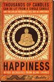Thousands Of Candles Buddha Motivational Lærredstryk på blindramme