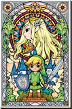 The Legend Of Zelda- Stained Glass Reproduction sur toile tendue