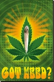 Got Weed Stretched Canvas Print