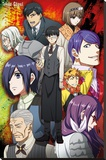 Tokyo Ghoul- Group Stretched Canvas Print