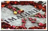 Imagine (Strawberry Fields John Lennon Memorial) Art Poster Print Lærredstryk på blindramme