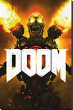 Doom- Key Art Stretched Canvas Print