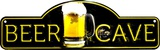 Beer Cave Plaque en métal