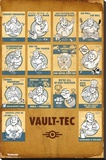 Fallout 4- Vault Tec Compilation Stretched Canvas Print