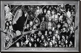 Metal (Heavy Metal Collage) Music Poster Print - Şasili Gerilmiş Tuvale Reprodüksiyon