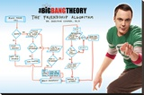 Big Bang Theory - Friendship Algorithm Lærredstryk på blindramme
