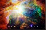Nebula - Einstein Quote Stretched Canvas Print