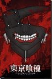 Tokyo Ghoul- Kaneki Ken Mask - Şasili Gerilmiş Tuvale Reprodüksiyon