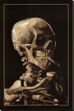 Vincent van Gogh - Skull With Cigarette, 1885 Reprodukce na plátně