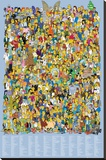 Simpsons-Cast Names Stretched Canvas Print