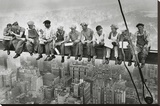 Manhattan Steelworkers Stretched Canvas Print
