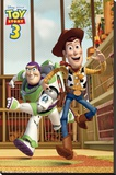 Toy Story 3 - Race! Stretched Canvas Print