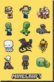 Minecraft - Characters Stretched Canvas Print