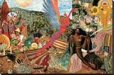 Annunciation- Santana Abraxas Cover - Şasili Gerilmiş Tuvale Reprodüksiyon