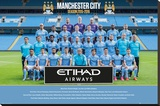 Manchester City- Team 15/16 Stretched Canvas Print