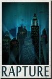 Rapture Retro Travel Poster Stretched Canvas Print