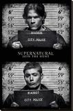 Supernatural- Mug Shots Lærredstryk på blindramme