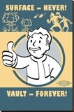 Fallout 4- Vault Forever Stretched Canvas Print