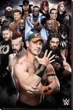 WWE- Superstars 2016 Lærredstryk på blindramme