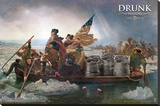 Drunk History - Crossing The Delaware Stretched Canvas Print